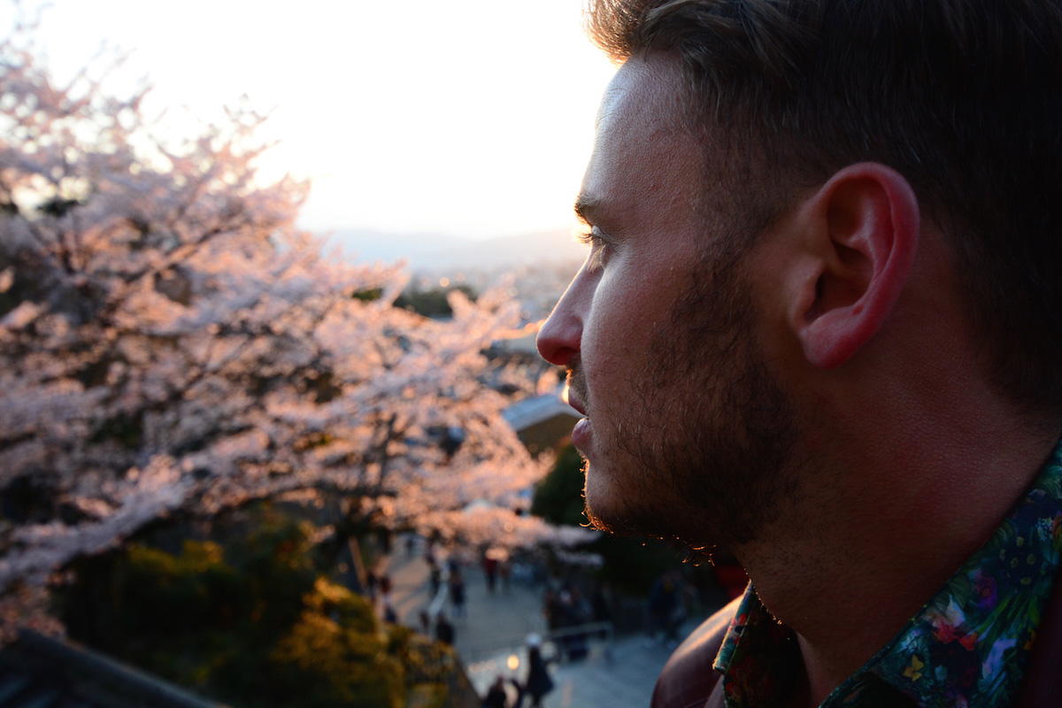 Sakura in Kyoto, Japan with Robert Schrader