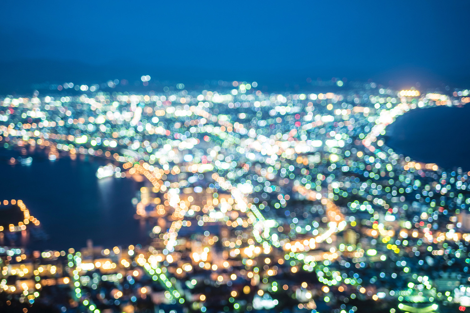 Night view of Hakodate, Japan