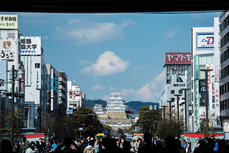 Himeji Castle in Kansai, Japan