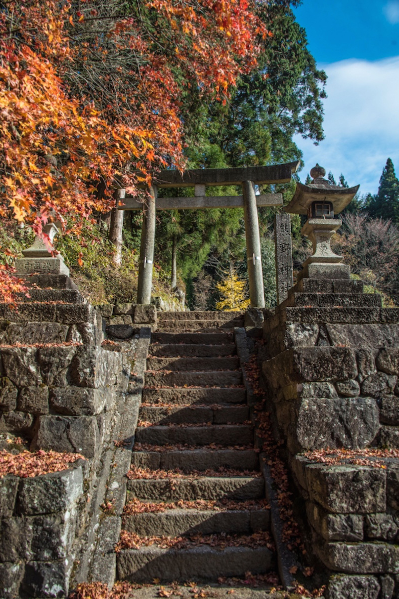 Fall colors along the Nakasendo in Japan