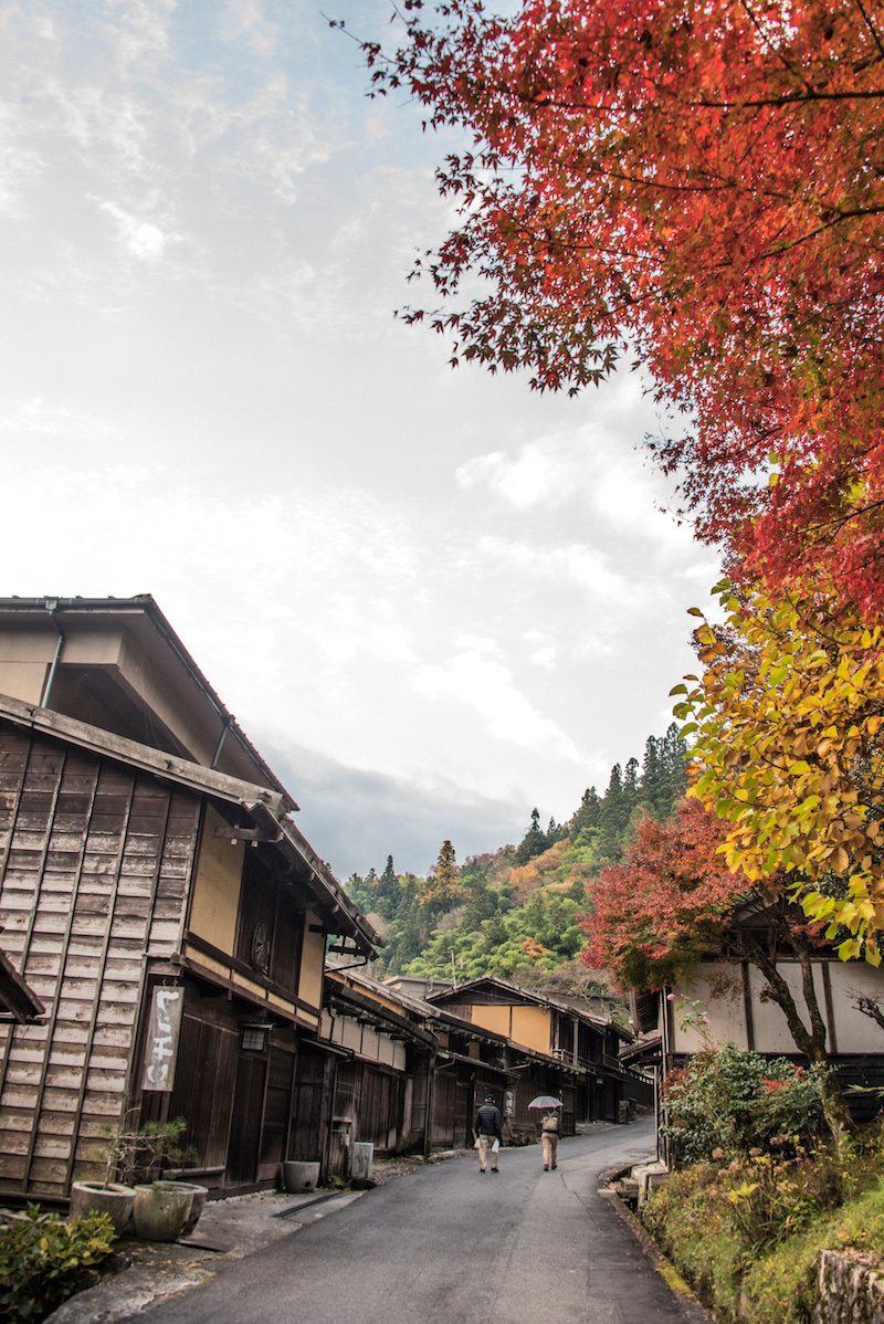 Fall colors in Tsumago, Japan