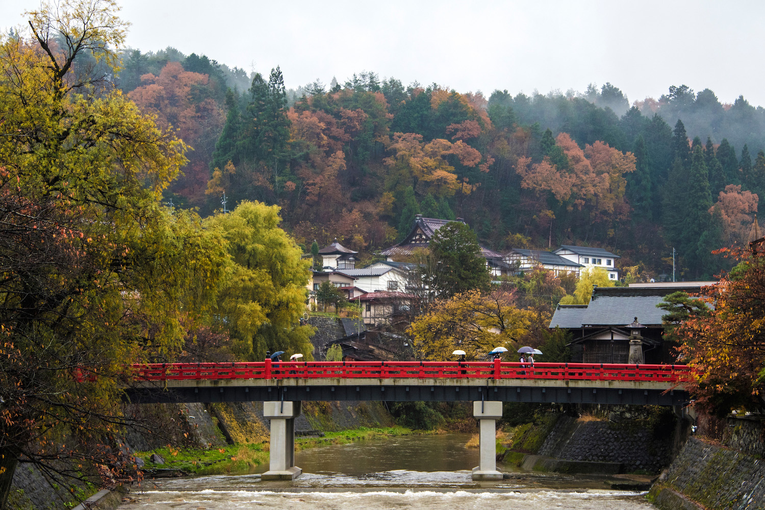 Fall colors in Takayama City, Japan