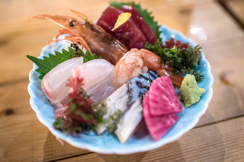 Sashimi in Aomori, Japan