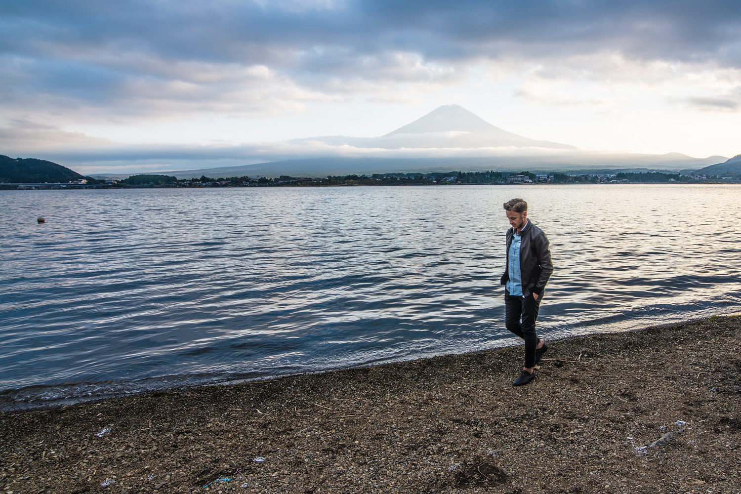 Robert Schrader at Mt Fuji