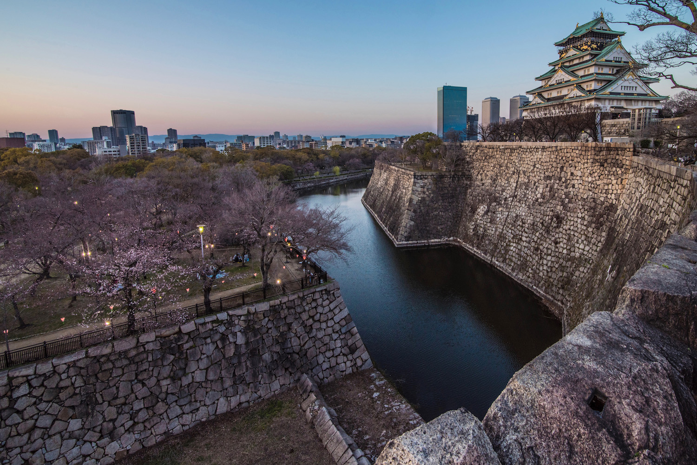 Castle in Osaka, Japan