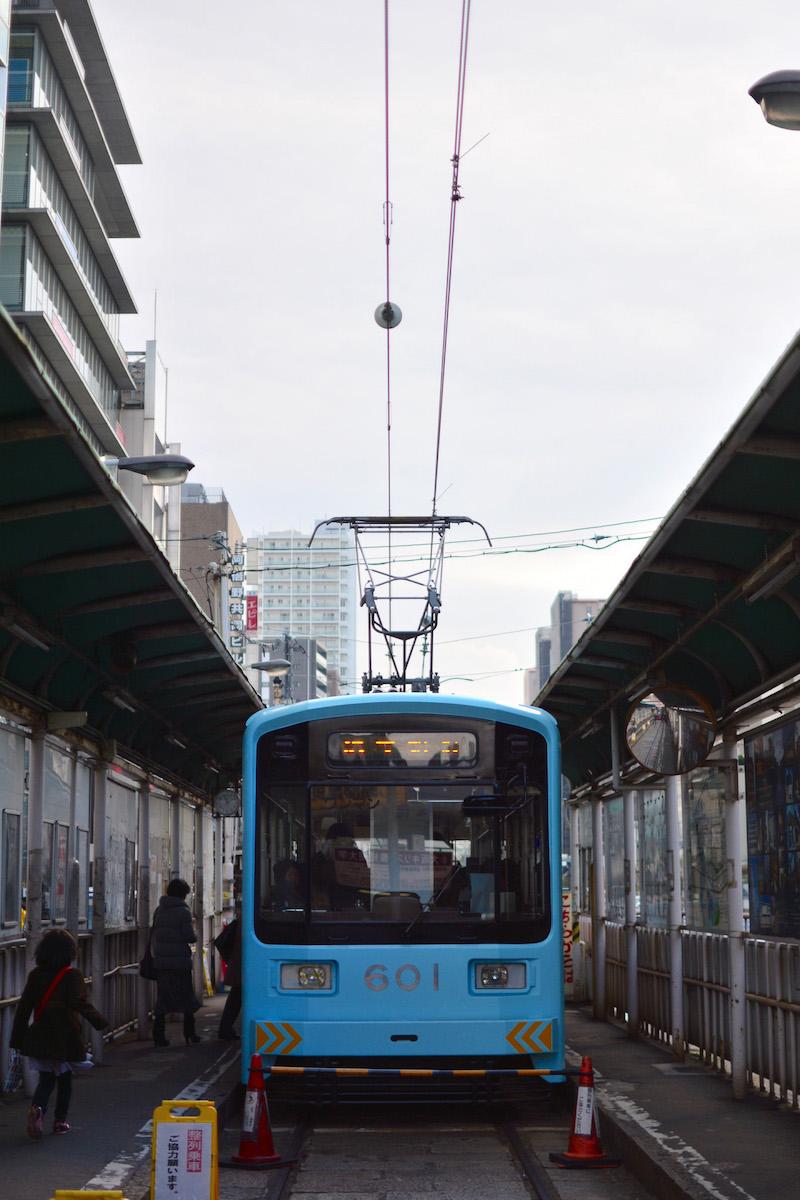 Streetcar in Osaka, Japan
