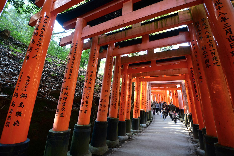 Fushimi Inari Shrine in Kyoto near Osaka, Japan