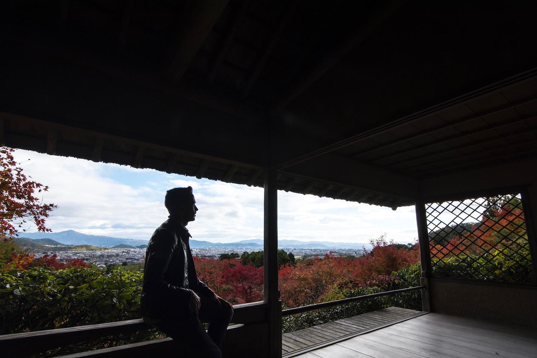 Robert Schrader in Arashiyama