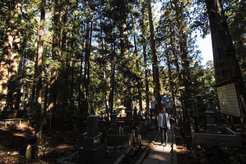 Robert Schrader in Koyasan Cemetery