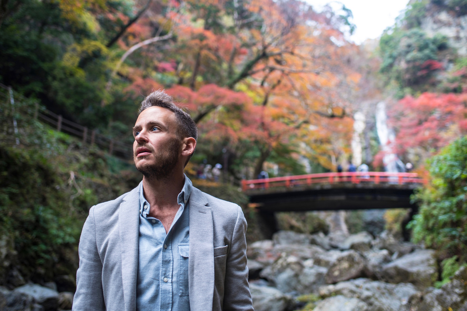 Robert Schrader in Autumn in Japan