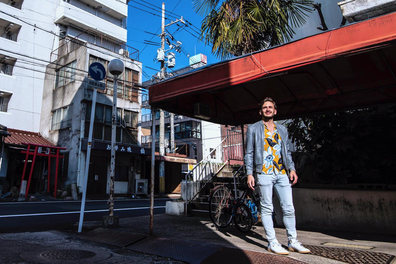 Robert Schrader in Okayama, Japan