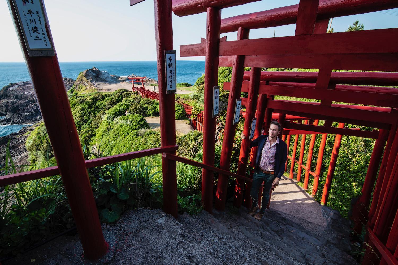 Robert Schrader in Nagato, Japan